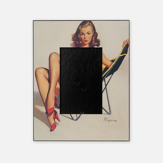 Classic Elvgren 1950s Vintage Pin Up Picture Frame