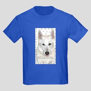White German Shepherd Dog - A Kids Dark T-Shirt