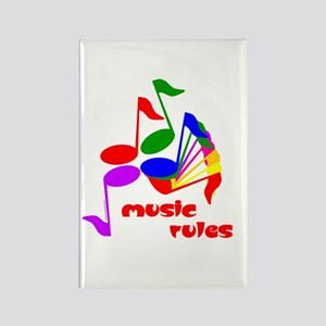 Music Rules Rectangle Magnet