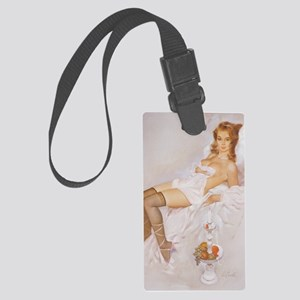 Classic Fritz Willis 1950s Vinta Large Luggage Tag
