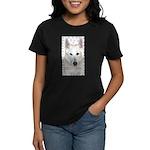 White German Shepherd Dog - A Women's Dark T-Shirt