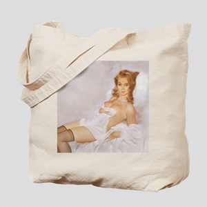 Classic Fritz Willis 1950s Vintage Pin Up Tote Bag