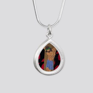 Yeshua Silver Teardrop Necklace