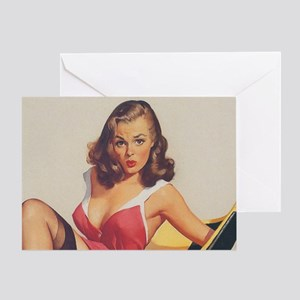 Classic Elvgren 1950s Vintage Pin Up Greeting Card