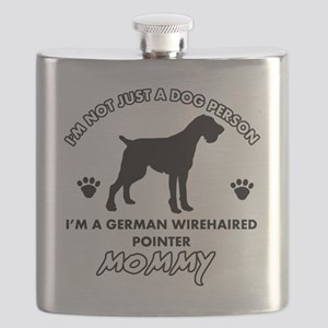 German Wirehaired Pointer Flask
