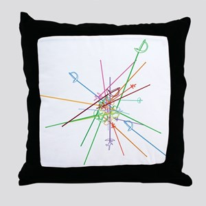 weapon scatter Throw Pillow