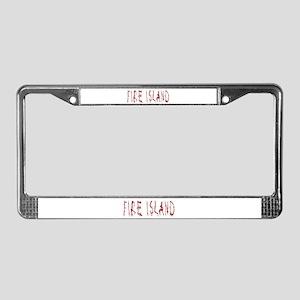 Fire Island License Plate Frame