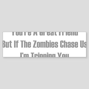 zombiesChaseUs1D Sticker (Bumper)