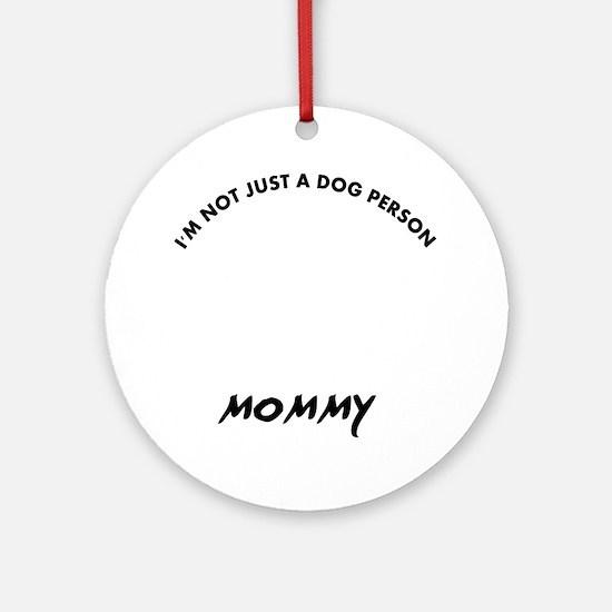 Dandie Dinmont Terrier dog breed de Round Ornament