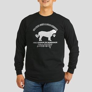 Dogue de Bordeaux dog bre Long Sleeve Dark T-Shirt