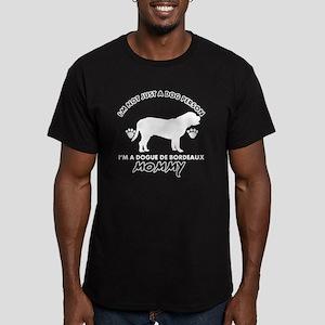 Dogue de Bordeaux dog  Men's Fitted T-Shirt (dark)