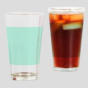 Cute Mint Green Polka Dot Drinking Glass