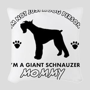 Giant Schnauzer dog breed desi Woven Throw Pillow