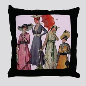 Women's Fashions 19... Throw Pillow