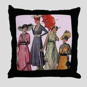 Women's Fashions 19... Throw Pillow