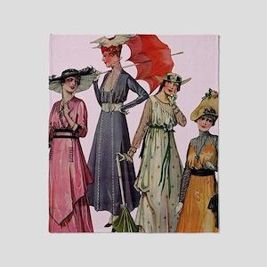 Women's Fashions 19... Throw Blanket