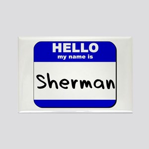 hello my name is sherman Rectangle Magnet