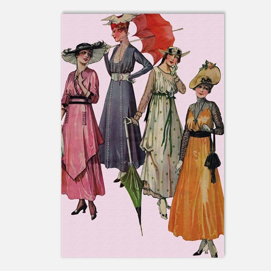 Women's Fashions 19... Postcards (Package of 8)