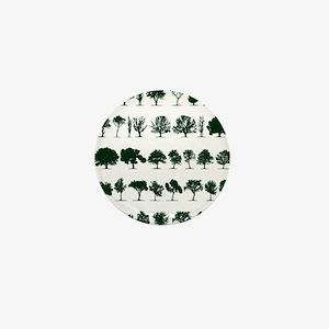 Tree Silhouettes Green 1 Mini Button