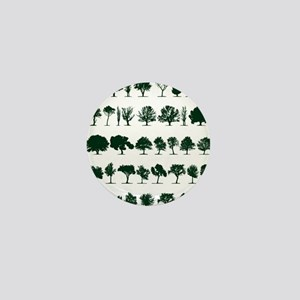 Tree Silhouettes Green 1 Mini Button
