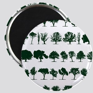 Tree Silhouettes Green 1 Magnet