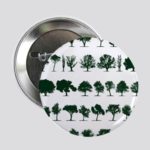 """Tree Silhouettes Green 1 2.25"""" Button"""