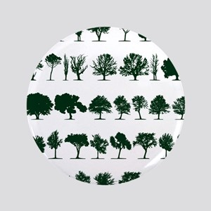 """Tree Silhouettes Green 1 3.5"""" Button"""