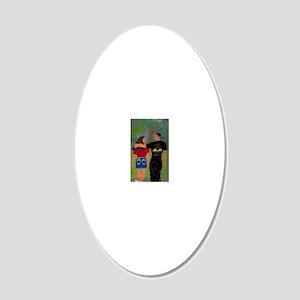 self portrait 20x12 Oval Wall Decal