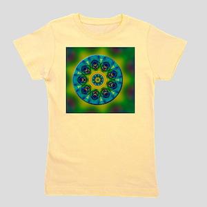 Rainbow Mandala Fractal Art Girl's Tee