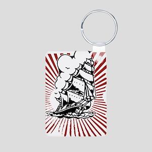 Pirate Ship Aluminum Photo Keychain