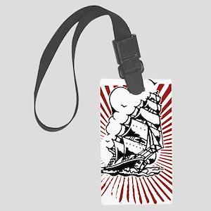 Pirate Ship Large Luggage Tag