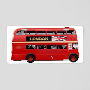London Red Bus Aluminum License Plate
