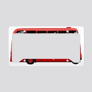 London Red Bus License Plate Holder