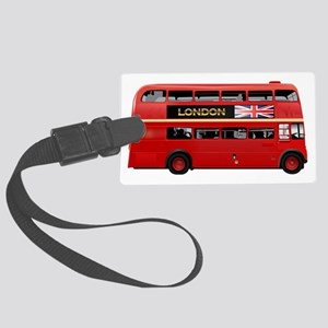 London Red Bus Large Luggage Tag
