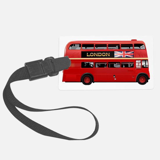 London Red Bus Luggage Tag
