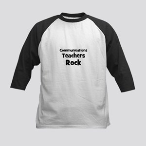 Communications Teachers Rock Kids Baseball Jersey