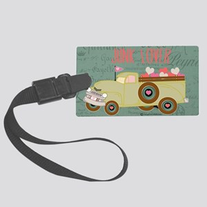 junk truck Large Luggage Tag