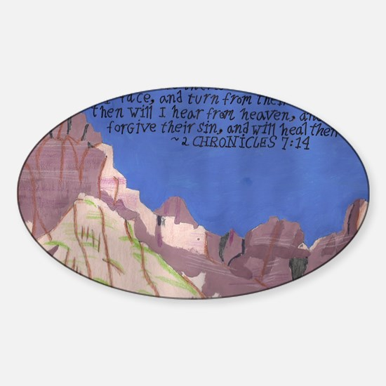 2 chronicles 7:14 Sticker (Oval)
