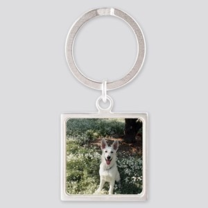 Kole in flowers Square Keychain