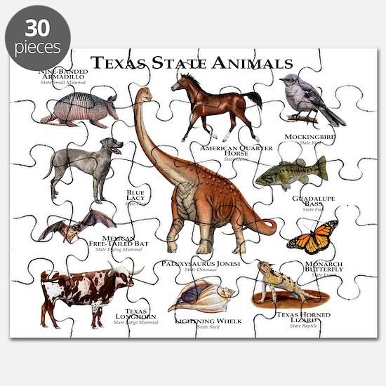 Texas State Animals Puzzle