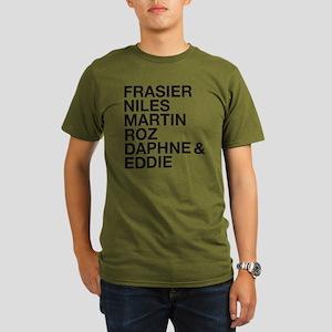 Frasier Cast Organic Men's T-Shirt (dark)