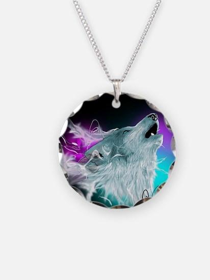 Northern Lights Wolf Spirit Necklace