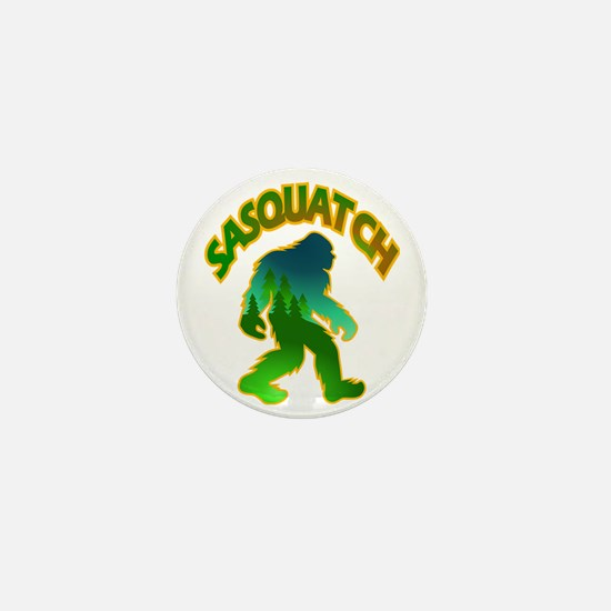 Sasquatch Forest Scene Mini Button