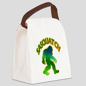Sasquatch Forest Scene Canvas Lunch Bag