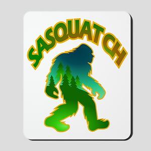 Sasquatch Forest Scene Mousepad