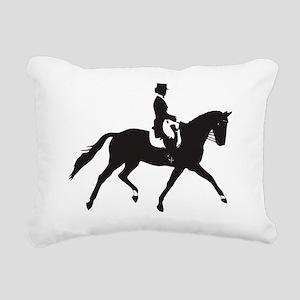 Dressage Trot Rectangular Canvas Pillow