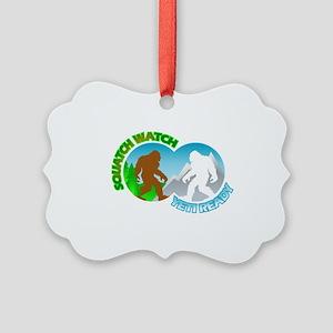 Sasquatch Yeti Match Up Picture Ornament