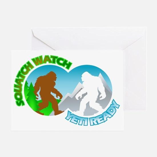 Sasquatch Yeti Match Up Greeting Card