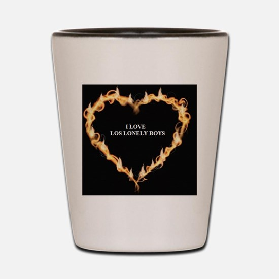 I LOVE LOS LONELY BOYS Shot Glass