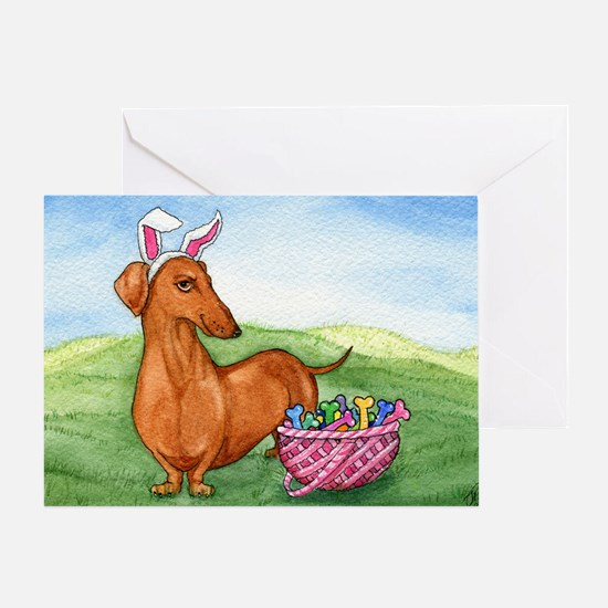 Funny Easter Dachshund Greeting Card